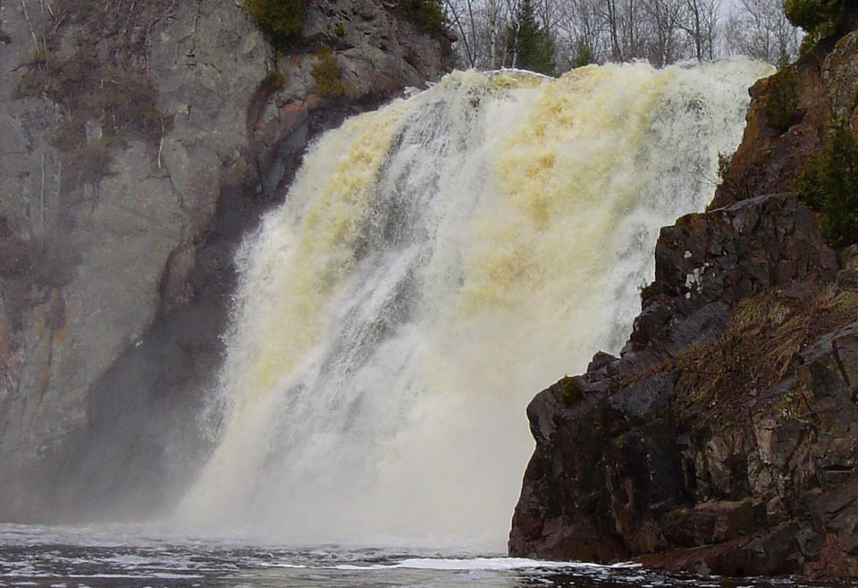 High Falls on the Baptism River near Silver Bay, MN and Tettegouche State park.