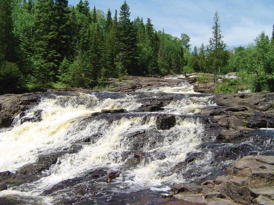 Glen Avon Falls on Beaver River. Beaver Bay, MN.