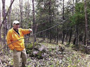Trail designer John Morton spent three days in Duluth doing preliminary work for the Grand Avenue Nordic Center ski trails, which are scheduled to open in 2016. | ERIC CHANDLER
