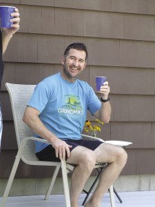 The author enjoys a glass of homemade root beer. |COURTESY OF ERIC CHANDLER