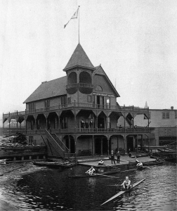 A century ago, Duluth was nationally known as an epicenter of competitive rowing, based at the former Duluth Boat Club shown in this historical photo. | IMAGE FROM THE DULUTH PUBLIC LIBRARY COURTESY OF ZENITH CITY ONLINE