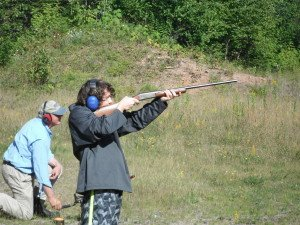 Eric Carlson, age 12, lives in Chicago. Recently, he enjoyed his first opportunity to shoot clay pigeons with the author in a northern Minnesota gravel pit.