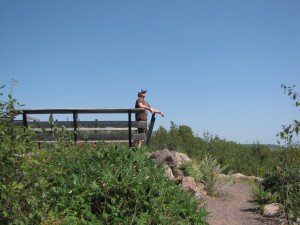 An observation tower at Hawk Ridge makes a great place to view birds or soak up the sights. | ERIN ALTEMUS