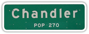 The Chandlers passed through Chandler, MN.