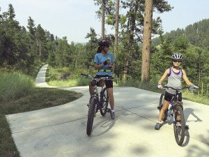 A paved path from Spearfish, SD to Spearfish Canyon.