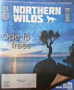 Shawn Perich of Hovland, Minn., and business partner Amber Pratt publish Northern Wilds magazine from Grand Marais, Minn., covering news and events along the North Shore.
