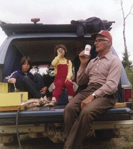 Ed Marsh in mid 1970s with his granddaughters Cheryl (left) and Rhonda (middle). | GORD ELLIS