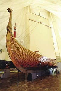 The Hjemkost Viking ship at the Heritage Hjemkost Interpretive Center in Moorhead. | FARGO-MOORHEAD CONVENTION & VISITORS BUREAU