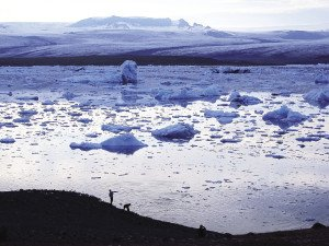 Jökulsárlón, in southeast Iceland, is a large glacial lake and is considered one of the natural wonders of Iceland.