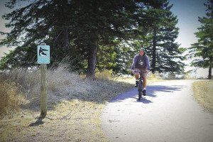 Chad Pierson enjoys a sunny day on the Gitchi-Gami Trail. | Submitted