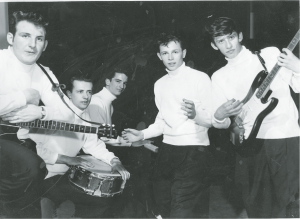 "The Bobcats, featuring Bobby on vocals, Ron Day on drums, Brian Merritt on rhythm guitar, Dave Turner on piano, and Al ""Slats"" Selic on lead guitar. 