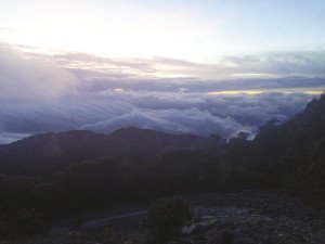 The view from the top of Volcan Baru in Panama—11,398 feet in elevation.