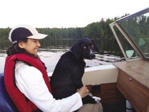 Shelley helps Leo get his sea legs.   ERIC CHANDLER