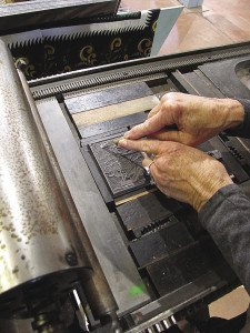 Bowen creates woodcuts with a machine. | ERIN ALTEMUS