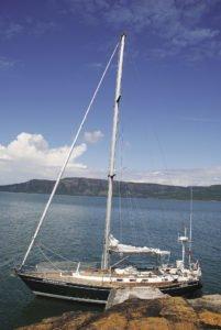 Sail Superior's 40-foot Frodo sails the bay towards the Sibley  Peninsula's Sleeping Giant.   ELLE ANDRA-WARNER