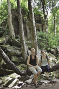 Micaella Penning [left] and Diana Gergel [right] at Beng Mealea. | MICAELLA PENNING