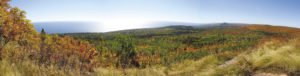 A beautiful fall panorama from Leveaux Mountain. | ERIC CHANDLER