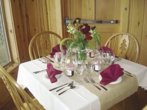New romantic tables in dining room at Gunflint Lodge. | SUBMITTED