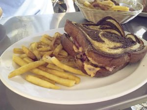 A Reuben sandwich from the Trestle Inn. | SUBMITTED