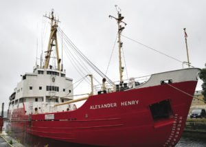The former Canadian Coast Guard icebreaker, the Alexander Henry, was built in 1958 at Port Arthur Shipyards in Thunder Bay, commissioned in 1959, and spent most of its service on Lake Superior. The ship was de-commissioned in 1984 and sold as a 'museum ship' to the Marine Museum in Kingston, Ontario in 1985. | WIKIMEDIA