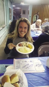 Casey Fitchett tries lutefisk for the first time. | CASEY FITCHETT