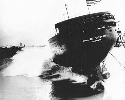 Some considered the Edmund Fitzgerald's crooked launch an ill omen. | AUTHOR'S COLLECTION
