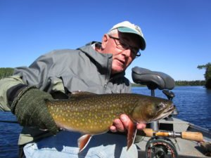 The author displays a typical Nipigon brook trout--a true trophy in any water. | DAN JOHNSON