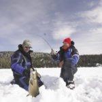 Tom Armstrong and Gord Ellis Senior with lake trout. | GORD ELLIS