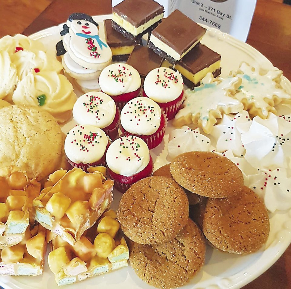 Sweet Escape Cake Café and Bakery in Thunder Bay offers a Christmas platter full of sweets.   SUBMITTED