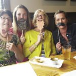 Casey and co-workers from Cook County enjoy a costumed happy hour at Voyageur Brewing.