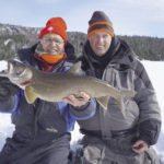 Gord Ellis Senior and Jr. with a nice lake trout.