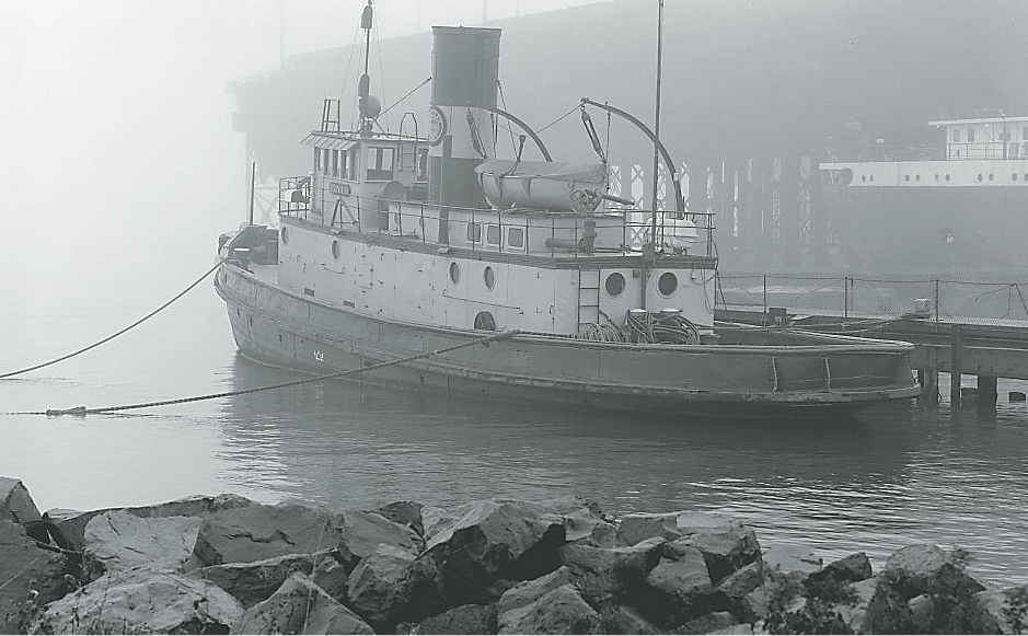 The tugboat Edna G was built in 1896 for the Duluth & Iron Range Railway and brought to Two Harbors to replace the tug Ella G Stone.