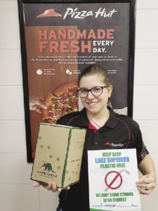 Nearly 50 businesses in the Thunder Bay area have signed onto the Last Straw Thunder Bay campaign, including Pizza Hut.