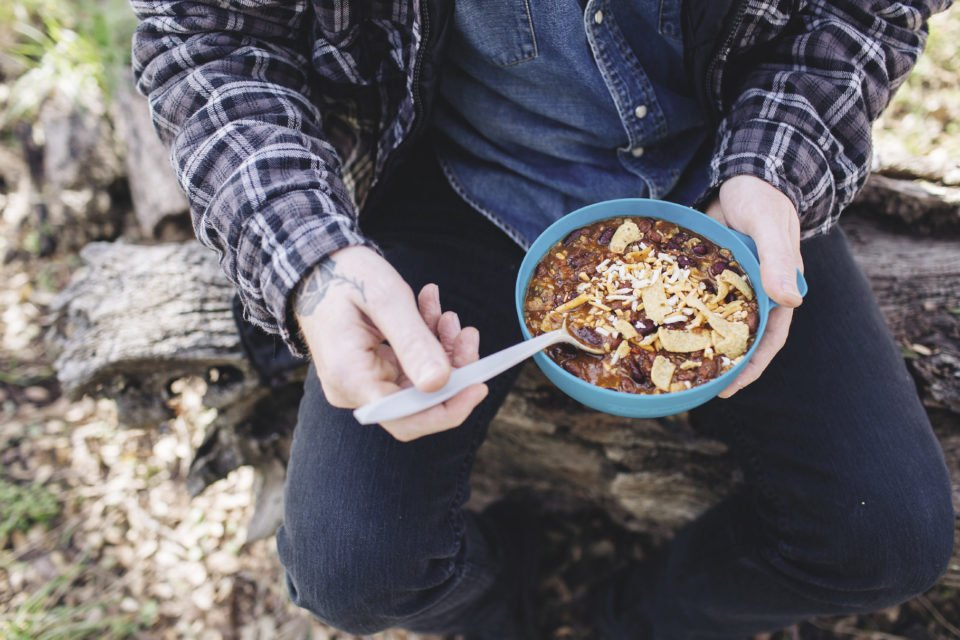 Packit Gourmet offers Tex-Mex dehydrated meals. Their most popular dinner is the boldly-spiced state fair Texas chili.