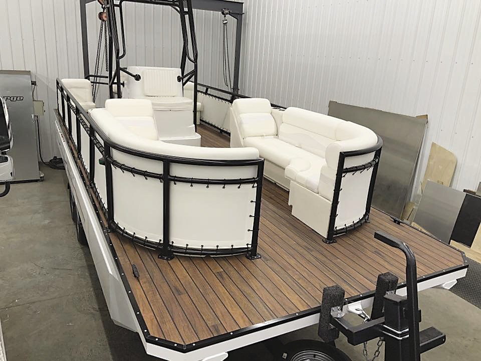 Schultz's favorite project that he recently completed was this white Electroforge boat.