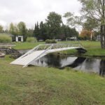 One project Eric Schultz really enjoyed putting together was this bridge, made for a client's personal yard.