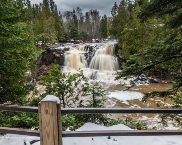 Snow at Gooseberry Falls by Jeanie Jordan. 2018 Photo Contest submission.