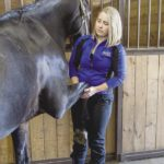 Hannah Hambly of Thunder Bay provides equine massage therapy.