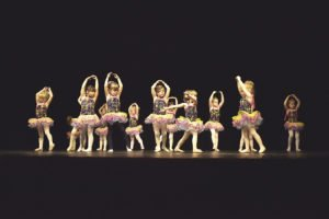 Pre-K dancers perform on stage at the annual Cook County YMCA dance recital in Grand Marais.