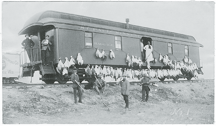 Traveling from cities, wealthy sportsmen sometimes commissioned rail cars for their hunting expeditions.