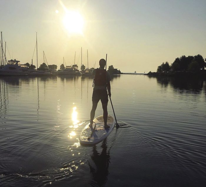 Stand up paddle board (SUP) on Lake Superior.