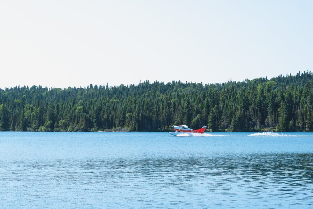 isle royale seaplanes taking off from Grand Marais on Lake Superior