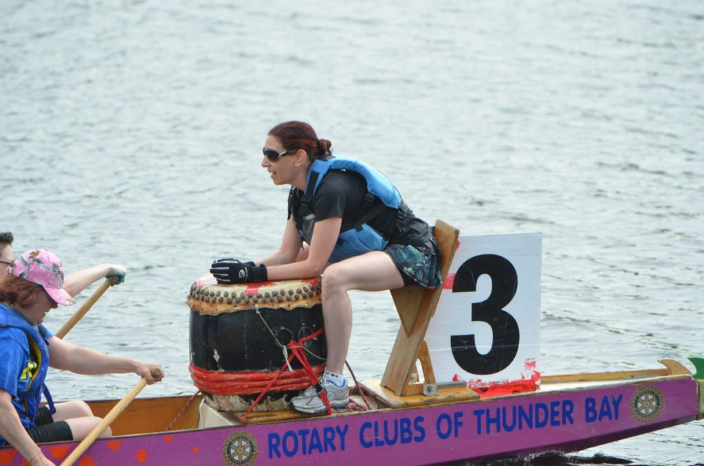The beat of the drum from the dragon boat can be heard far and wide, adding to the excitement during the race.