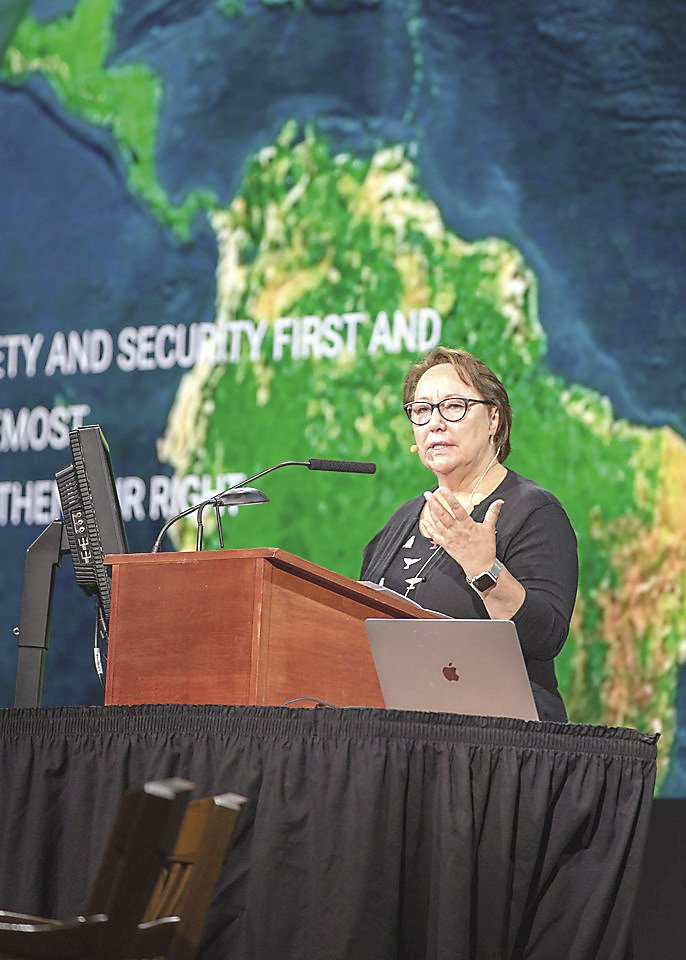 Inuit leader Sheila Watt-Cloutier gave a heartfelt talk at the Climate Changed conference.