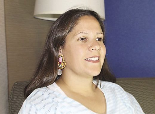Nicole Richmond started beading when she was a little girl for pow wow dances.
