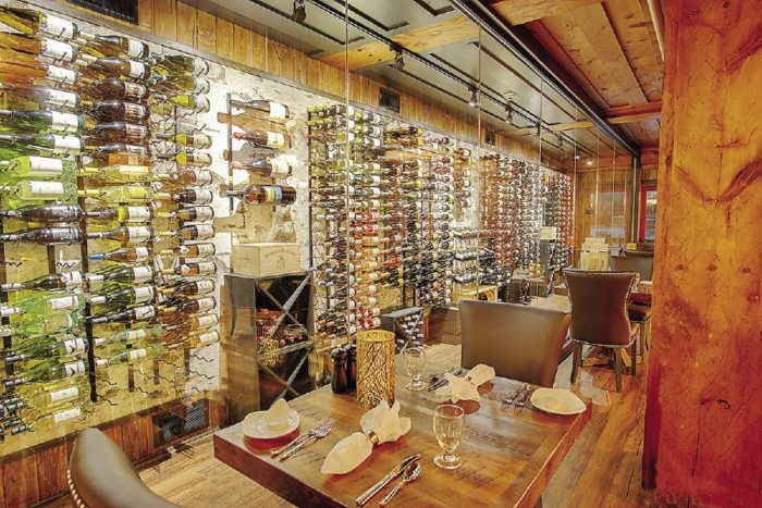 Lutsen Resort has over 200 wine labels to choose from.