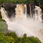 The 120 foot tall High Falls of the Pigeon River in Grand Portage State Park Minnesota